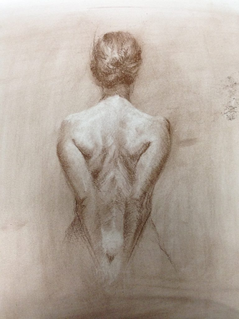 Female Back, drawing from life